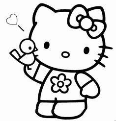 Plantillas de Hello Kitty. Fiestas infantiles.