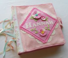 A beautiful and fun gift idea for a special little girl. This customized quiet book cover will hold treasured activity pages for hours of (quiet) fun! #AnneCraftedGifts