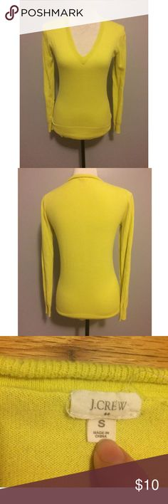 J.Crew Yellow V-Neck Sweater Small There are no holes or stains. J. Crew Sweaters V-Necks