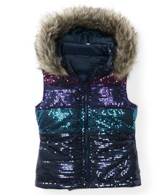Kids' Sequin Puffer Vest - PS From Aeropostale