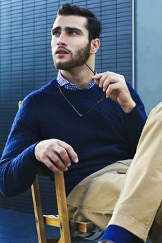 cable knit sweater - perfect shade of blue