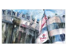 New York Yankees  Old  Yankee Stadium Bronx  Art by dfrdesign, $32.00