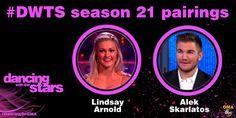 Season 21 @DancingABC: Alek Skarlatos and lindsayarnold. #DWTS #DancingOnGMA @blownxawayx94