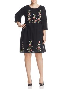 JUNAROSE Silla Embroidered Dress