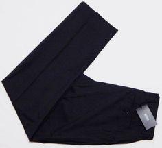 NWT-Men-039-s-HUGO-BOSS-Wool-Dress-Pants-32x34-Black-Striped-JAMES-BROWN-Pleat-195