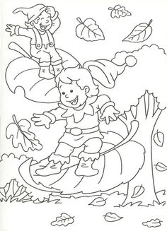 * En automne les lutins sur les feuilles