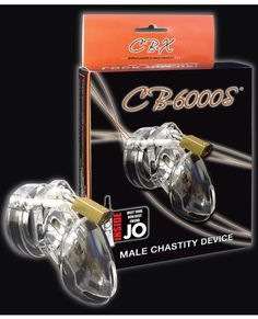 """Cb-6000 2 1-2"""" Cock Cage And Lock Set - Clear"""