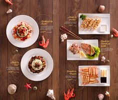 Key Visual, food styling and menu design for Asian House. Carta Restaurant, Restaurant Menu Design, Restaurant Identity, Food Menu Design, Food Poster Design, Steak House Menu, Japanese Menu, Asian House, Menu Layout