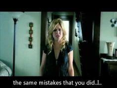 Because of You - Kelly Clarkson. Lyrics on Official Video