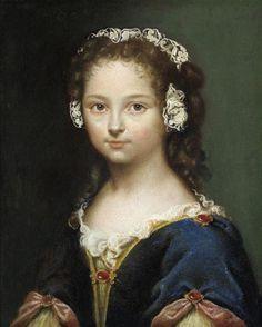 Portrait of Jeanne de Fleurieu, 17th century, attributed to Pierre Mignard (1612-1695)