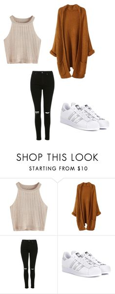 """Untitled #469"" by austynh on Polyvore featuring Topshop and adidas Originals"