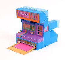 Retro Electronics Made of Paper by Lucie Thomas and Thibault Zimmermann