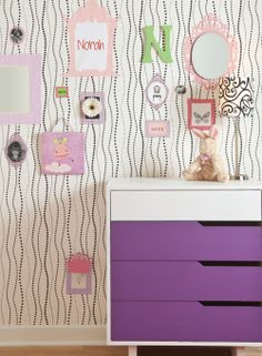 A fun wallpaper for a young girls room at http://lelandswallpaper.com $34.95