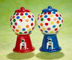 Gumball Machine Salt and Pepper Shakers - http://www.florenceandgeorge.com/shop/spring-catalog/gumball-machine-salt-and-pepper-shakers.html