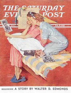 """Saturday Evening Post - February 19 1938 : """"Movie Star"""" (Norman Rockwell)"""