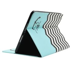 [$5.27] Stripes And Anchor Pattern Horizontal Flip Smart Case with Holder & Card Slots & Wallet for iPad Air / iPad 5