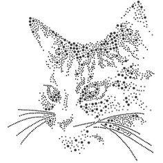 Printable Stencil Patterns, Arte Linear, String Art Templates, Cat Applique, Rhinestone Art, Egg Art, Cat Pattern, Dot Painting, Hand Engraving