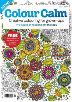 Colour Calm | Future launches #colouring #magazine for adults in the #UK