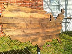 Pallet wood state USA cutout 4'x2' (like this but individual states.)