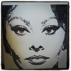 Beautiful Sophia Loren  Modern art, pop art, crystals