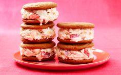 Ginger-Peach Ice Cream Sandwiches