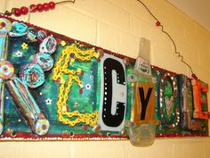 Recycle wall art