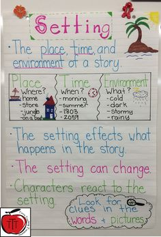 35 Anchor Charts That Nail Reading Comprehension - 35 Anchor Charts for Reading – Elementary School Applying Charts along with Topographical Road directions Setting Anchor Charts, Plot Anchor Chart, Ela Anchor Charts, Character Anchor Charts, Folktale Anchor Chart, Literary Elements, Story Elements, Teaching Writing, Writing Activities