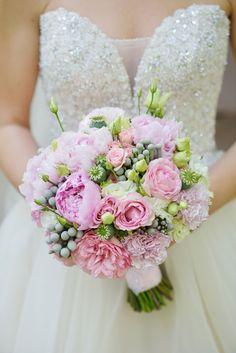 нежный букет невесты, wedding bouquet