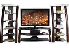 picture of Grant City II Merlot 3 Pc Wall Unit from Wall Units Furniture