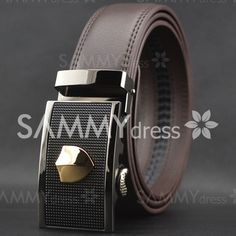 Chic Pattern Decorated Rectangle Buckle Waist Belt For Men