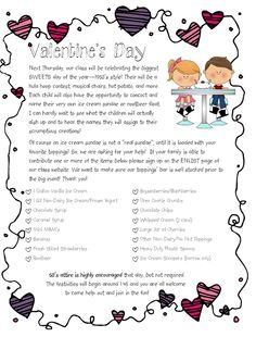 cute valentines party idea