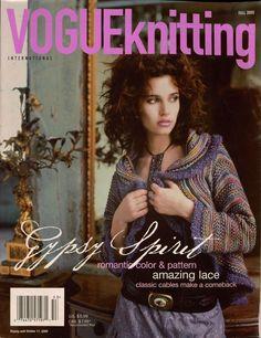 VOGUE KNITTING Fall 2005 Gypsy Sweaters Shrug Coat Shawl Embroidered Gloves #VogueKnittingInternational #KnittingPatterns