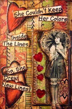 Elle ne pouvait pas contenir ses couleurs à l'intérieur des lignes alors elle a dessiné de nouvelles lignes - Traduction par www.horizoom.com