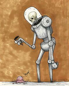 Plop - Robot Art Print