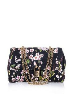 DOLCE & GABBANA Floral Print Brocade Shoulder Bag