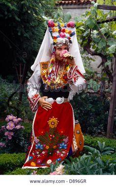 Kazanluk Bulgaria Lady In National Dress Rose Festival Stock Photo Traditional Fashion, Traditional Dresses, Folk Costume, Costumes, Shaman Woman, Bridal Headdress, Folk Dance, Folk Embroidery, Ethnic Dress