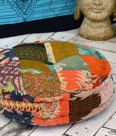 Yoga Meditation Bohemian Sari Patchwork Pouf Floor Pillow