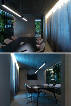 Il nuovo showroom di arredo bagno Ideagroup in provincia di Treviso. La sala riunioni.