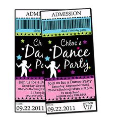 Kaylyns Dance Party Invites JUSTLOVEDESIGN BLOG Pinterest