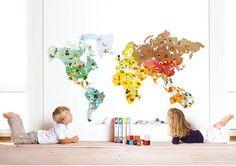 Janod Welt Wandsticker für Kinder #Wanddeko #Wandtattoo #Welt #Geografie #Deko #Kinderzimmer #Wohnen #Galaxus