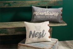Shop our new pillows for fall! #mudpiegift #fall #fallhome #pillows #mudpiepillows Fall Home Decor, Autumn Home, Mud Pie Gifts, Tablescapes, Throw Pillows, Blanket, Canvas, Wood, Prints
