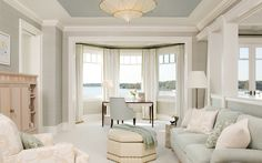 recessed ceiling colors beachy / hamptons / pastels / interior design / decor / windows