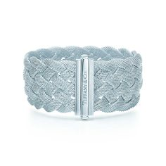 Tiffany Somerset™ braid bracelet in sterling silver, medium.   Tiffany & Co.