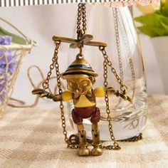 That's absolutley amazing! <3 $4.65 Cute Retro Style Puppet Shape Pendant Sweater Chain Necklace