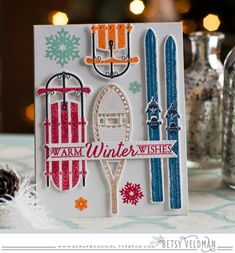 Two Feet Deep Revisited - Warm Winter Wishes Card by Betsy Veldman for Papertrey Ink (December 2015)