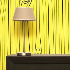 Wood Wallpaper in Yellow designed by All The Fruits made in Italy as part of Home Accessories and Home Decor and Wallpaper tagged Design Sale and Minimal wallpaper and Selected by ELLE Decoration - Summer Selection and Spicy mustard home decor - image 1 on CROWDYHOSUE