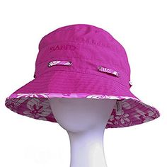 4a183fc805ba9 Ubestyle Outdoor Beach Travel Hat Girls UPF 50+ Reversible Bucket Hats (UV  Sun Protective
