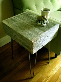 barnwood side table via modernnarks