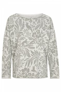 Juvia Damen Sweatpullover mit Blätterprint Grün | SAILERstyle Loungewear, Cotton, Nice Asses