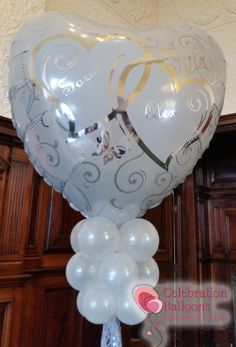 Wedding balloons from www.balloonsleeds.com Balloon Pictures, Celebration Balloons, Wedding Balloons, Wakefield, The Balloon, Leeds, Wine Glass, Romantic, Create